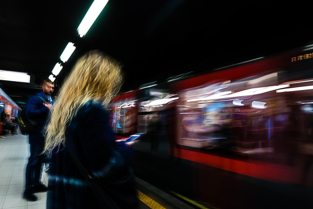 street photography concept milano subway