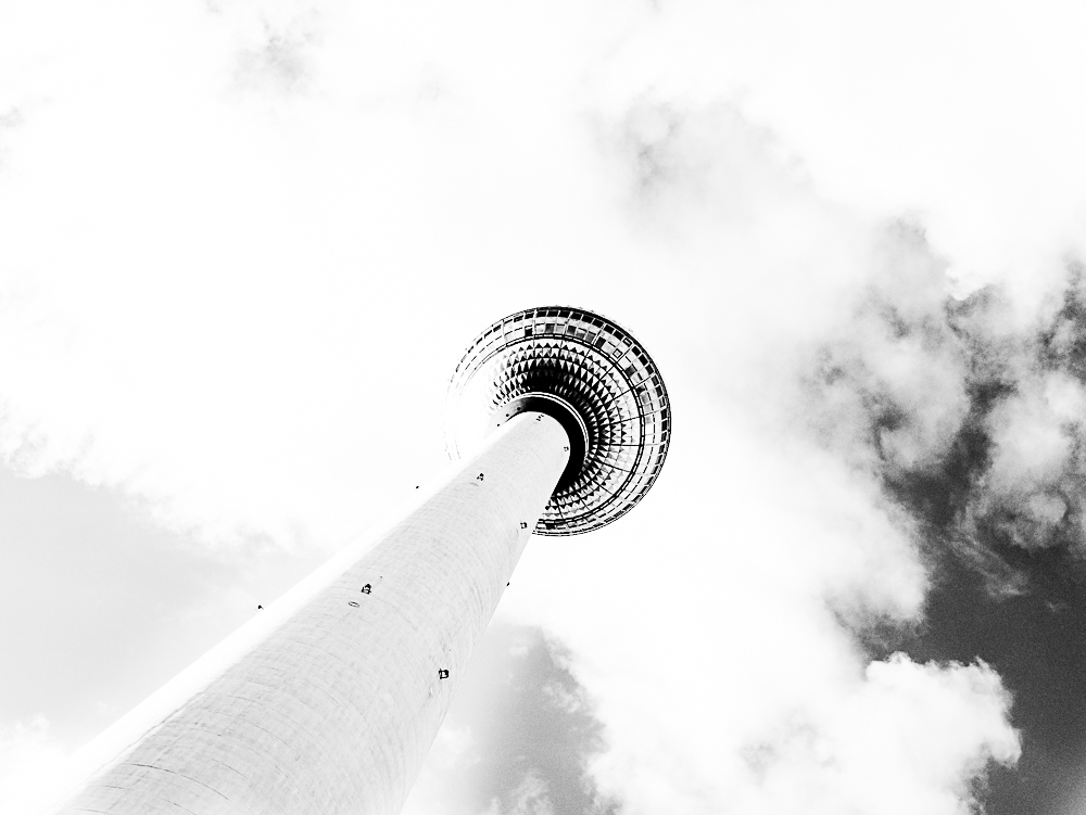 368m Berlino - Torre della Televisione - 1969  H. Henselmann
